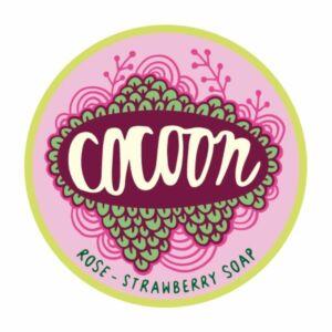 Cocoon eper rózsaszirom natúr kézműves szappan shea vajjal és kakaóvajjal