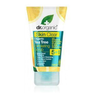 Dr. Organic Skin Clear 5in1 teafaolajos hámlasztó bőrradír
