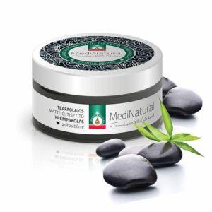Medinatural teaaolaj-szén mattító, tisztító arcmaszk zsíros bőrre