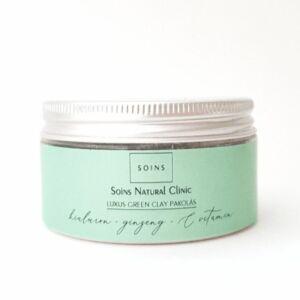 Soins luxus natúr zöld agyagos arcpakolás zsíros bőrre hialuronsavval