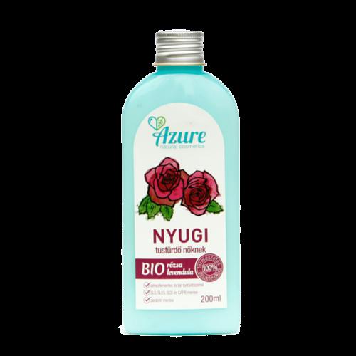 Azure nyugi natúr bio tusfürdő nőknek rózsa-levendula - SLS-mentes és parabén-mentes tusfürdő