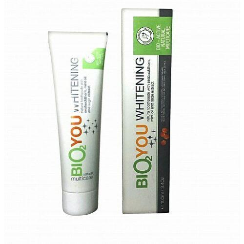 Bio2You natúr fehérítő fogkrém bio homoktövissel és mentával