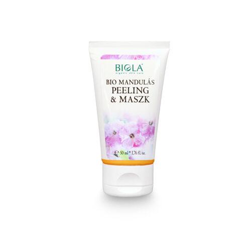 Biola bio mandulás natúr peeling és maszk minden bőrtípusra - 50 ml