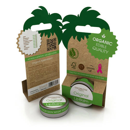 Coconutoil natúr ajakápoló kókuszolajjal - 10 ml