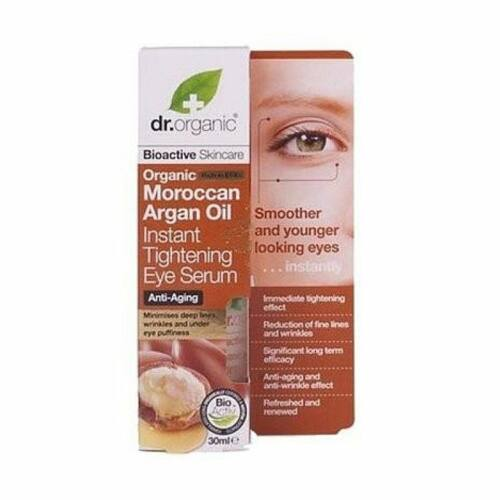 Dr. Organic bio marokkói argán olaj szemkörnyék feszesítő szérum