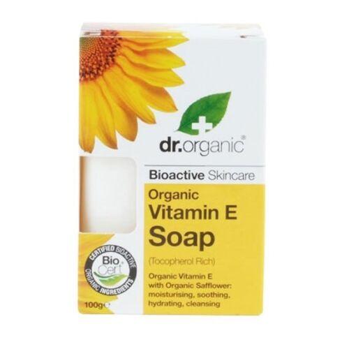Dr. Organic bio e-vitaminos szappan sáfrányos szeklicével - 100 g