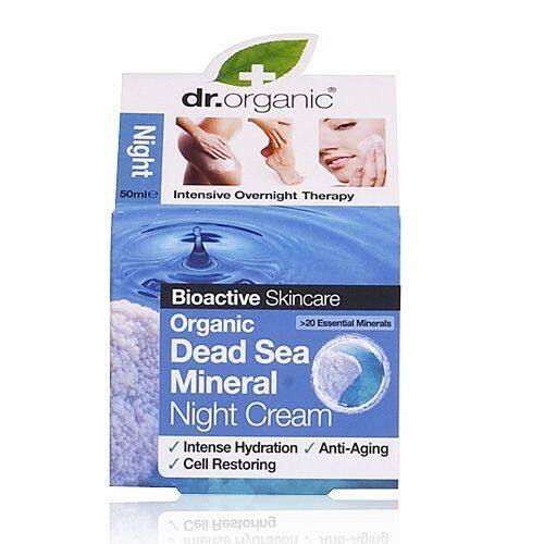 Dr. Organic bio holt-tengeri éjszakai natúr arckrém aloe verával