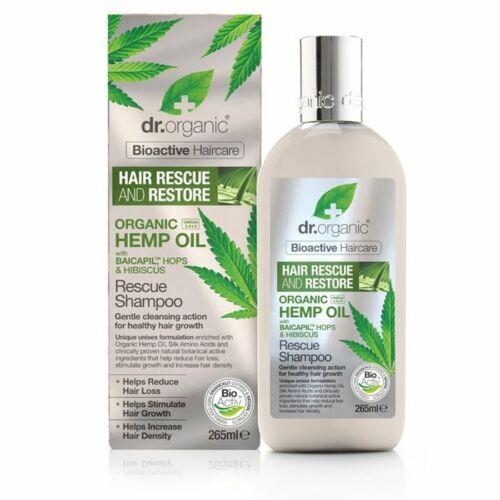 Dr. Organic kendermagolaj hajserkentő natúr sampon hajhullás ellen - SLS-mentes