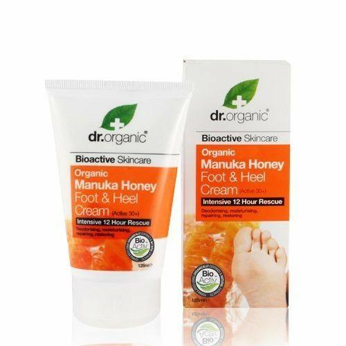 Dr. Organic manuka mézes láb- és sarokápoló - kellemetlen szagok ellen - 125 ml
