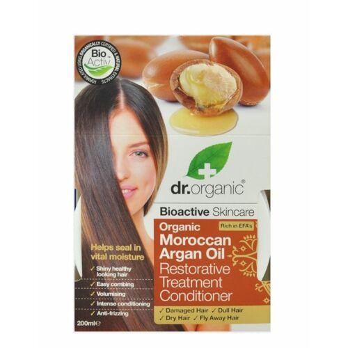 Dr. Organic bio marokkói argán olaj regeneráló hajpakolás olívaolajjal - 200 ml