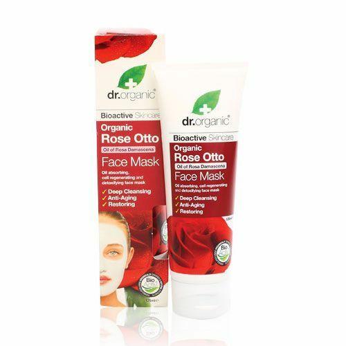 Dr. Organic bio rózsa arcpakolás shea és kakaóvajjal - 125 ml