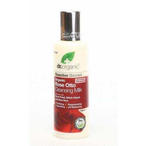 Dr. Organic bio rózsa arctisztító tej aloe verával és varázsmogyoróval - 125 ml