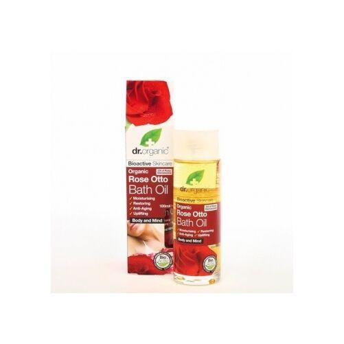 Dr. Organic bio rózsa fürdő olaj jojoba- és mandulaolajjal - 100 ml