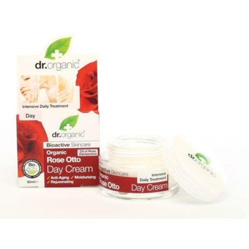 Dr. Organic bio rózsa éjszakai natúr arckrém száraz bőrre