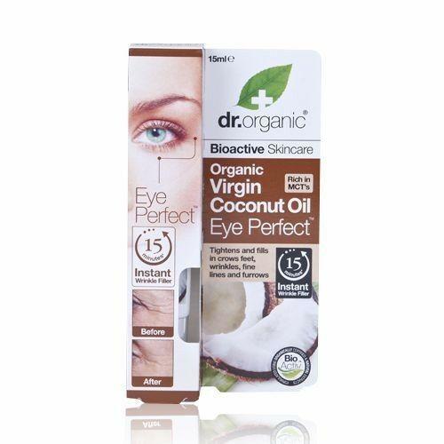 Dr. Organic bio szűz kókuszolaj szemkörnyékápoló aloe verával - 15 ml