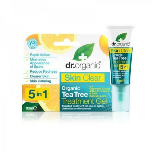 Dr. Organic Skin Clear 5in1 pattanáskezelő gél szalicil savval