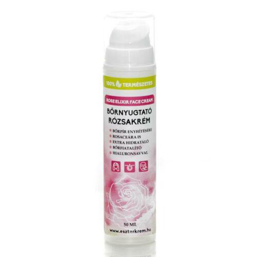 Eszterkrém hialuronsavas bőrnyugtató rózsa elixír arckrém rosceás bőrre - 50 ml