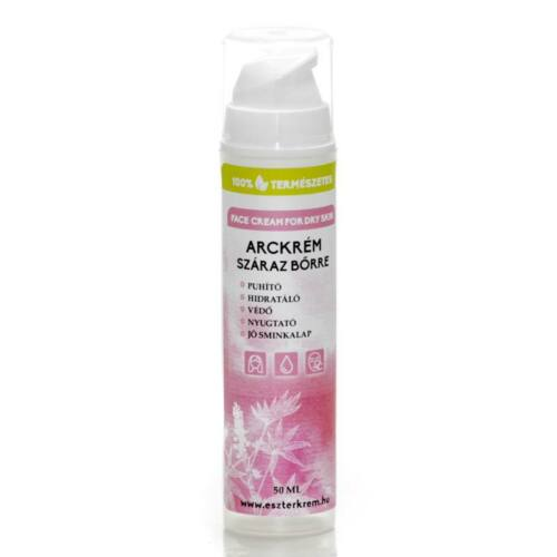 Eszterkrém natúr arckrém száraz és vízhiányos bőrre rózsavízzel