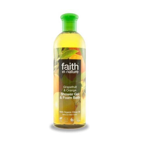 Faith in Nature bio grapefruit és narancs natúr tusfürdő - Parabén és SLS mentes