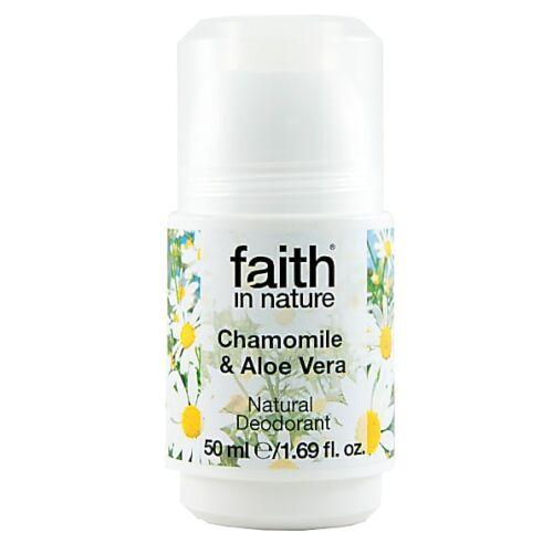 Faith in Nature aloe vera és kamilla golyós bio dezodor - alumínium hydroxide mentes