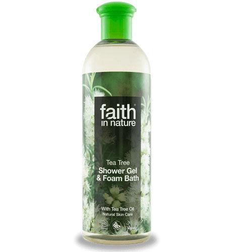 Faith in Nature bio teafa tusfürdő - Parabén és SLS mentes