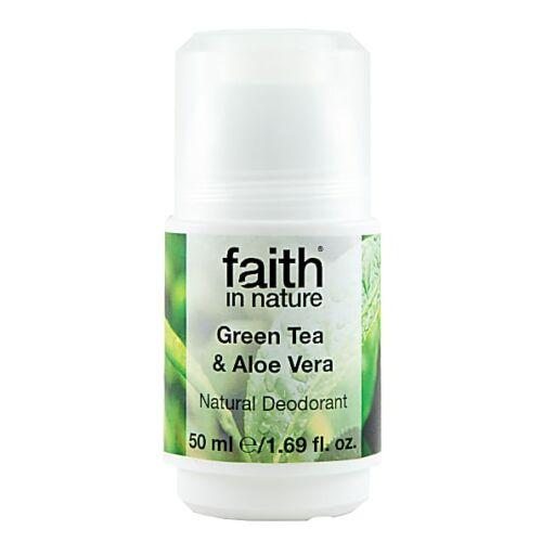 Faith in Nature aloe vera és zöld tea golyós bio dezodor - alumínium hydroxide mentes