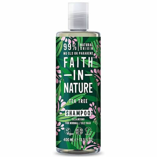 Faith in Nature teafa natúr sampon zsíros és korpás hajra