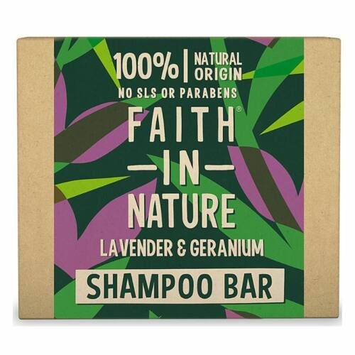 Faith in Nature geránium és levendula szilárd sampon - 85 g