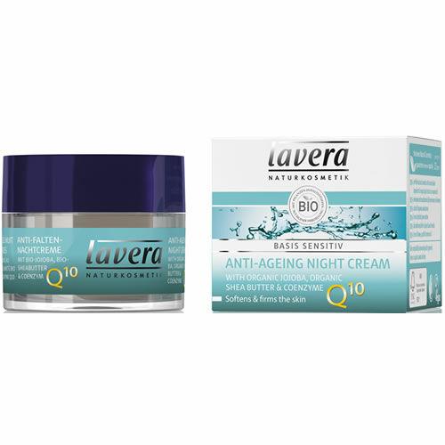 Lavera basis Q10 öregedésgátló, ránctalanító natúr éjszakai arckrém