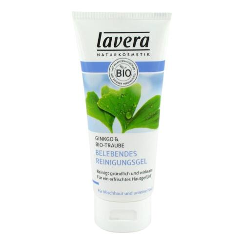 Lavera faces arctisztító gél zsíros bőrre ginkofa levelével és szőlővel - 100 ml