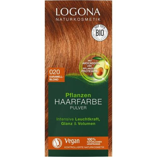 Logona natúr növényi hajfesték por - karamella szőke