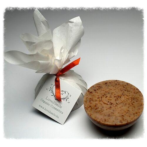 Love2smile bőrradírozó szőlőmagolaj és kakóvaj szappan - 125 g