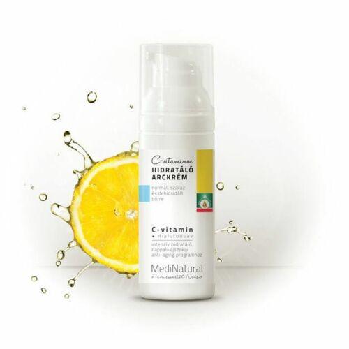 Medinatural C-vitamin hidratáló arckrém száraz, pigmentált bőrre - 50 ml