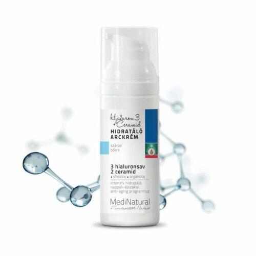 Medinatural hialuronsav-keramid arckrém száraz bőrre - 50 ml
