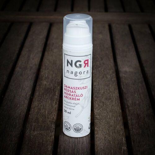 Nagora bio damaszkuszi rózsa hidratáló arckrém száraz bőrre