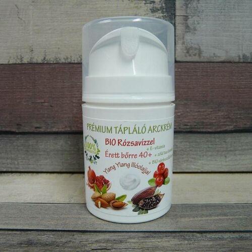Naturpolc 40 felett hidratáló, anti-aging arckrém bio rózsavizzel