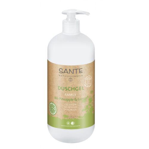 Sante családi bio ananász & citrom natúr tusfürdő - 950 ml - Parabén és SLS mentes