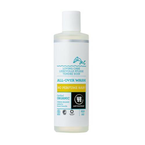 Urtekram bio parfümmentes natúr babafürdető és baba sampon - SLS-mentes