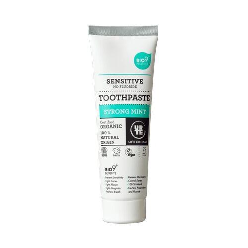 Urtekram Strong mint fluoridmentes bio menta fogkrém érzékeny fogakra - 75 ml