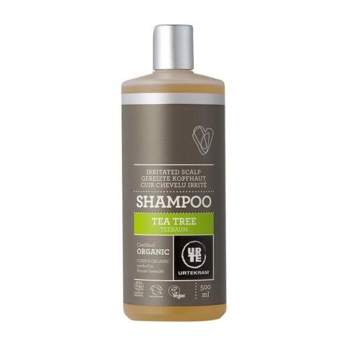 Urtekram bio teafaolaj natúr sampon viszkető fejbőrre - 500 ml - SLS-mentes