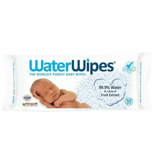 Waterwipes natúr pamut baba popsitörlő kendő - 60 db