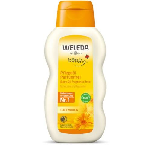 Weleda Calendula Baby Oil - illatanyagmentes natúr babaápoló olaj - 200 ml