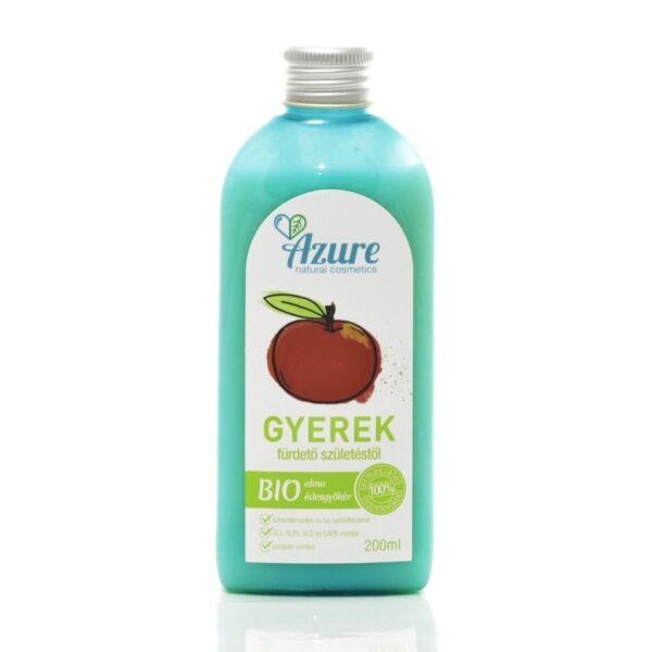 Azure natúr bio baba fürdető és gyerek tusfürdő fiúknak alma-édesgyökér - SLS-mentes és parabén-mentes