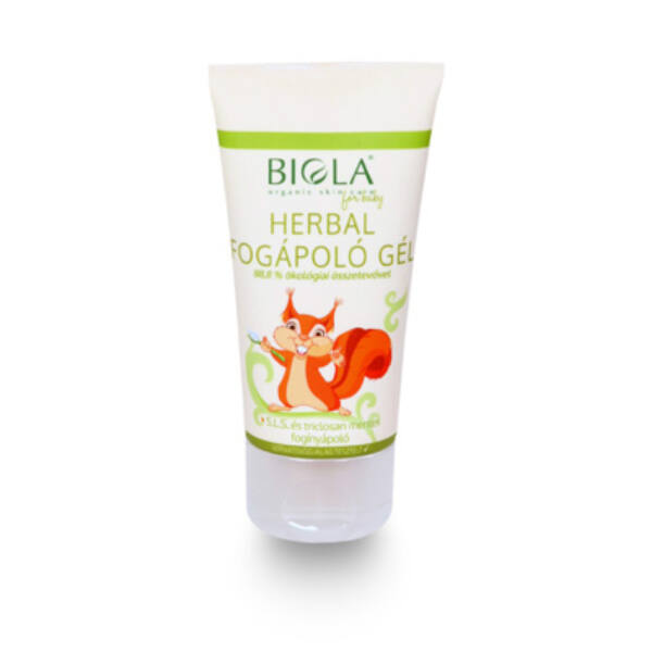 Biola bio herbál gyerek fogkrém fluoridmentes