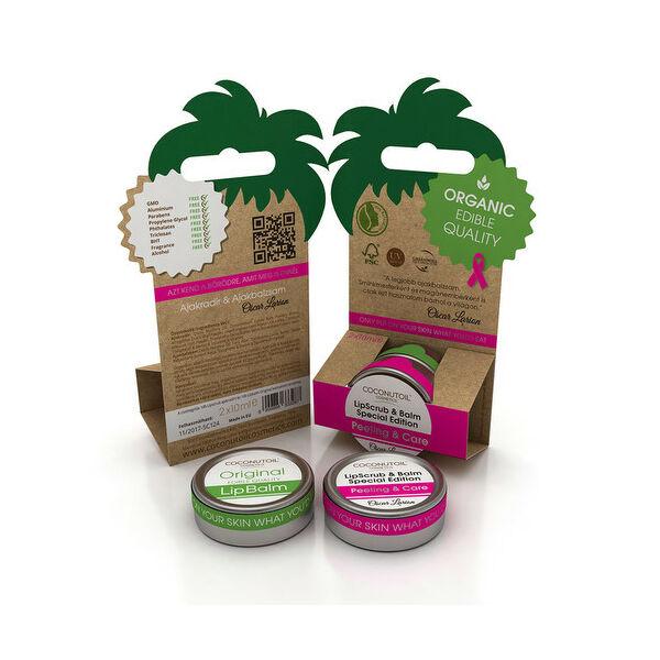 Coconutoil ajakradír és ajakbalzsam kókuszolajjal - 2x10 ml