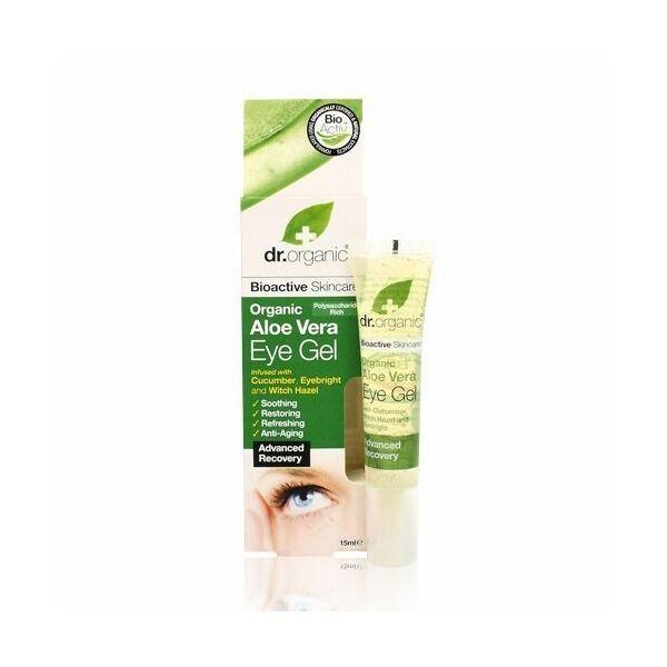 Dr. Organic bio aloe vera szemkörnyékápoló gél uborkával - 15 ml