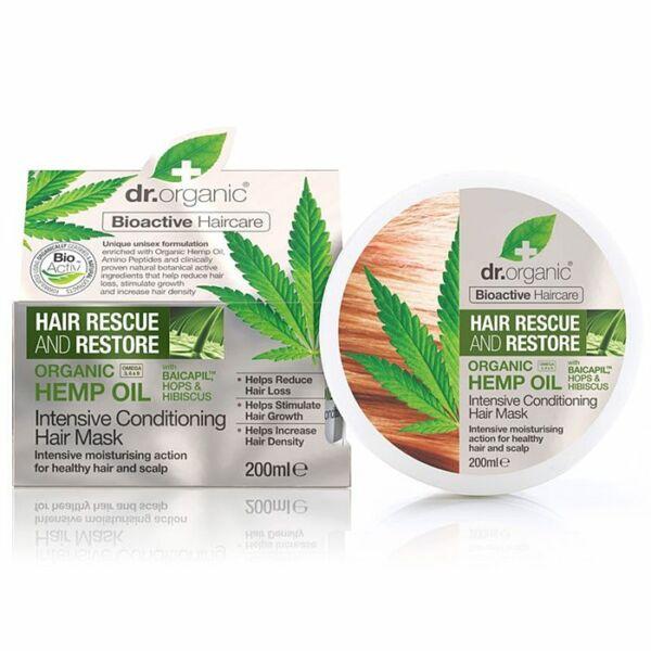 Dr. Organic bio kendermagolaj hajnövekedést serkentő kezelés - 200 ml
