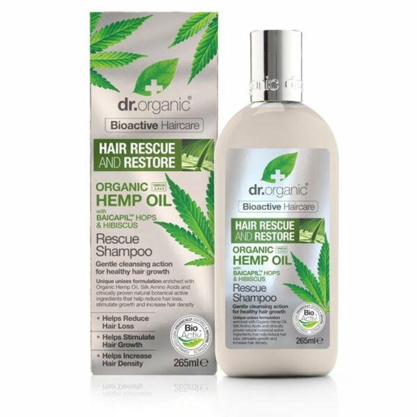 Dr. Organic bio kendermagolaj hajserkentő natúr sampon hajhullás ellen - SLS-mentes
