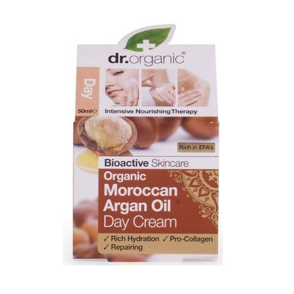 Dr. Organic bio marokkói argán olaj nappali natúr arckrém száraz bőrre