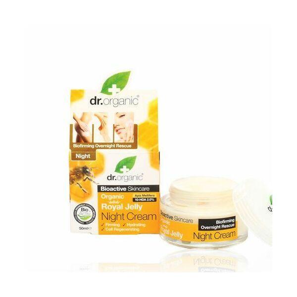 Dr. Organic bio méhpempő éjszakai natúr arckrém